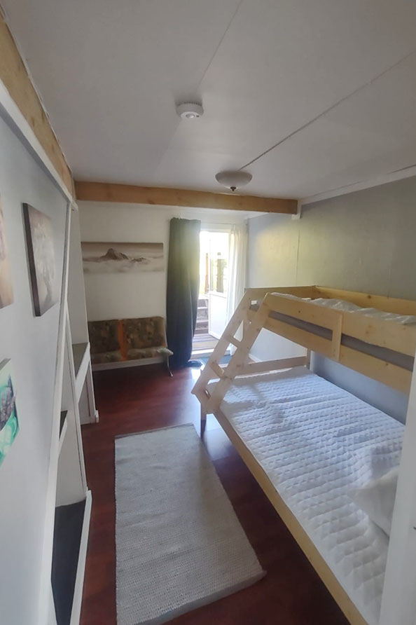 Schlafzimmer 4 – Hochbett 120cm und 75 cm